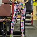 Quick Dry Женщин Леггинсы 2016 Одежда Мягкая Граффити Печатные Женщины Брюки Высокой Талии Тонкий Леггинсы Фитнес Y25067