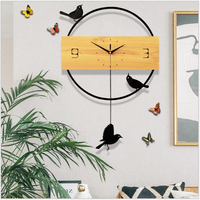 Geekcook Cute Bird Wall Clock Living Room Creative Modern Minimalist Nordic Quartz Mute Personality Home Fashion Clock Decor