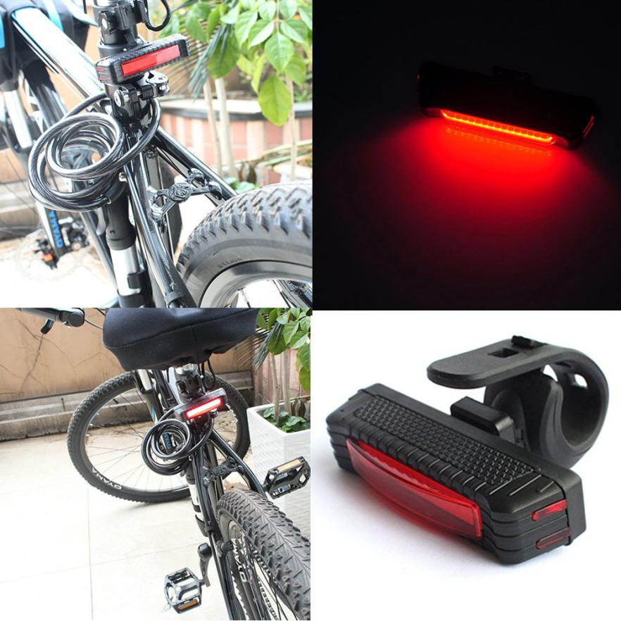 Cycling Life 100LM LED USB Rechargeable Head Light Flash Bicycle Bike Tail Safety Lamp DP Easy To Install Bike Light Flashlight