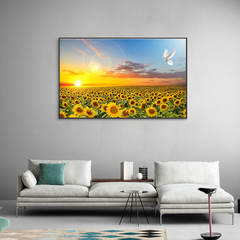 Sunflower Posters Hd Print Bedroom Decoration Wall Picture Nordic Sunrise Landscape Canvas Art Painting For Nursery Baby Room