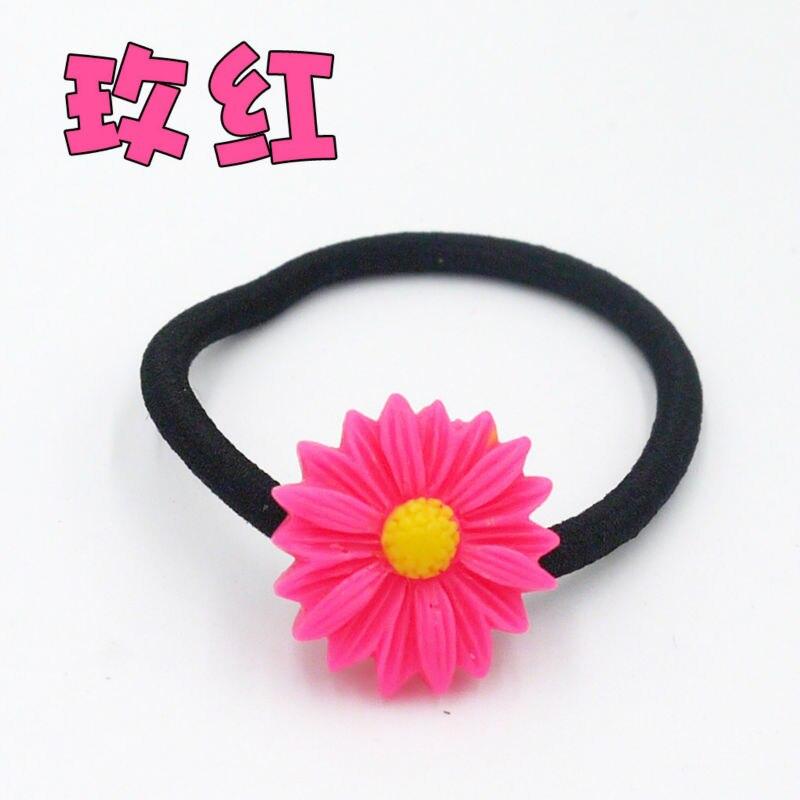 50 unids/lote Blooming Daisy Pulsera de Cuerda de Pelo Pelo de Los Niños Decorat