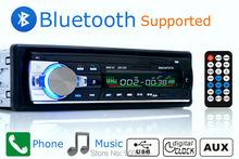 50 шт. wholeprice за рубежом склад Bluetooth Стерео FM радио MP3 аудио плеер 5 В Зарядное устройство USB/SD/ AUX в тире 1 DIN 2017