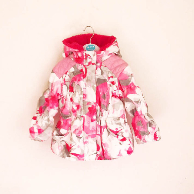 Nueva Niña abajo de la capa femenina prendas de vestir exteriores superior del niño primavera y otoño femenina delgada wadded chaqueta con capucha de ENVÍO GRATIS