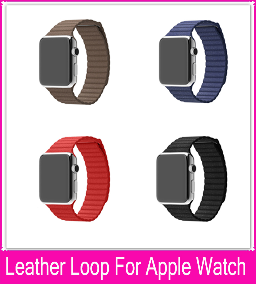 For apple watch leather loop Watchband For Apple Watch Milanese Loop Watchband With Magnetic closure For