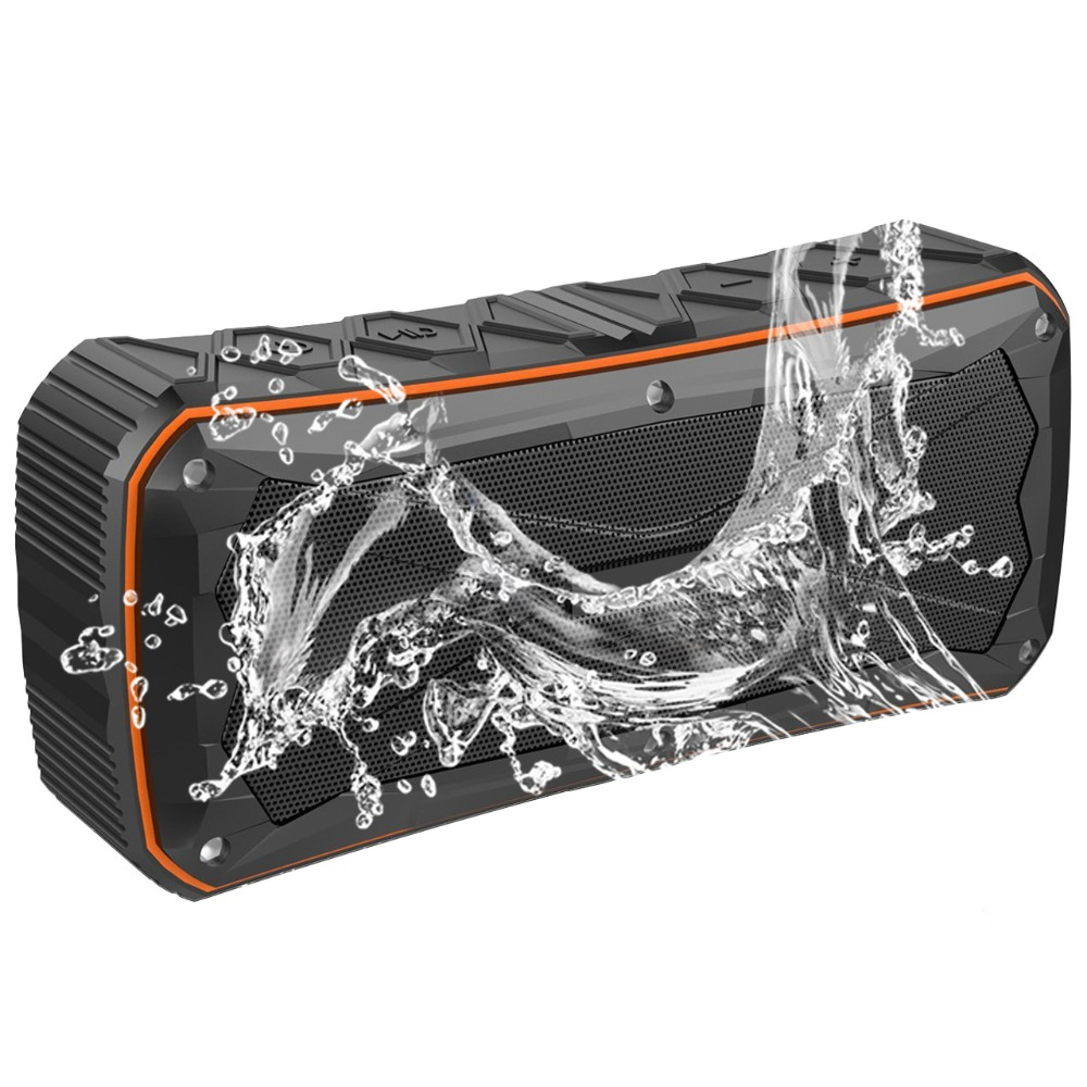 20W Outdoor Portable Waterproof Bluetooth Speaker IP6 Wireless Speaker Column Box Speaker Subwoofer Loudspeaker Sound Box TF USB