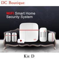 Free DHL Shipping 1 Set Kit D Intelligent Wifi Home Alarm System New Function With Andorid