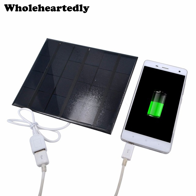 6V 3.5W Solar Power Panel Charger USB Portable Solar Charger Device Solar Panel To Phone Sun Panel Solar Board Power Source