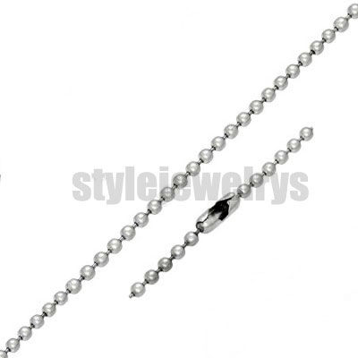 Wholesale 2.4/4/6mm Ball Link Necklace Chain Stainless Steel Jewelry Fashion Biker Chain Necklaces SCH0002