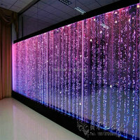 Large long LED water bubble wall,Experienced design LED water bubble wall