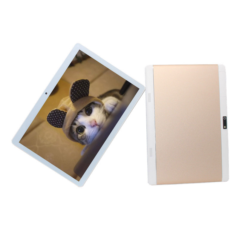 10.1 Inch 4G Lte Phone Call Tablet PC  Quad-Core MTK6735 Android 6.0  Wifi 1280 X 800 IPS Gold Tablet  1GB /16GB