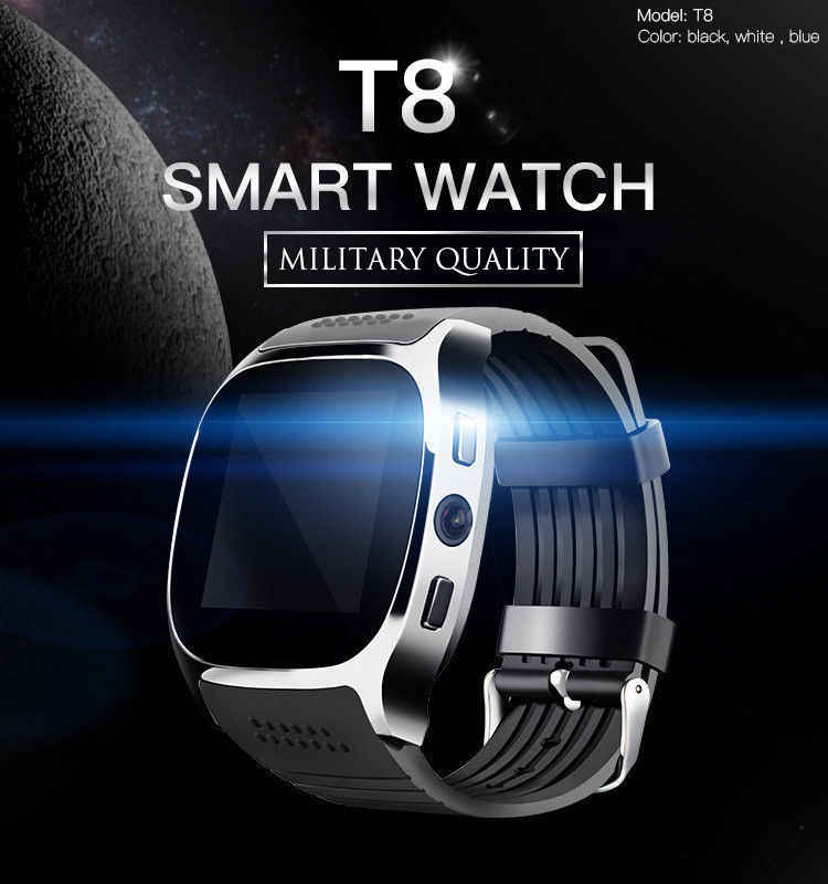 Bluetooth Smart Watch with Camera Facebook Sport Wristwatch Music Player Whatsapp Support SIM TF Card Call for IOS Android Phone