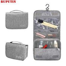 RUPUTIN Fashion Travel Cosmetic Bag Female Waterproof Beauty Women Makeup Bags Bathroom Organizer Portable Bath Hook Wash