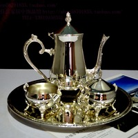 high-end European style package silver coffee pot, set value, authentic home, bridal decoration gifts, handicrafts