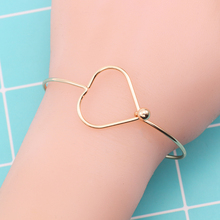 New Fashion Temperament Metal Small Fresh Bracelet Geometric Personality Girls Heart Opening Adjustable