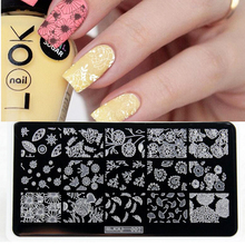 1pc Beauty Lace Design Nail Stamping Plates Image 3D Nail Mold Stencil For Nail Art Stamps Plates Manicure Template Nailart Tool цены