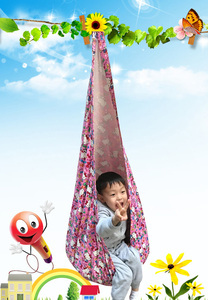 Image 5 - Baby Pod Swing Swing Children Hammock Kids Swing Chair Indoor Outdoor Hanging seat Child Swing Seat With Inflatable Cushion