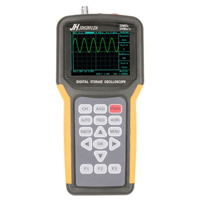 Cheap JINHANIC JDS2012A Digital Handheld Oscilloscope 1 Channels 20MHz 200MSa/s Sample Rate Os (EU Plug)