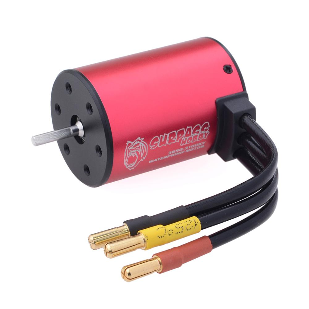 Image 4 - KK 3.175mm Shaft 3650 Waterproof Combo 2050KV 2300KV 3100KV  Brushless Motor w/ 45A ESC for RC 1/10 GTR Monster Truck Buggy Car-in Parts & Accessories from Toys & Hobbies