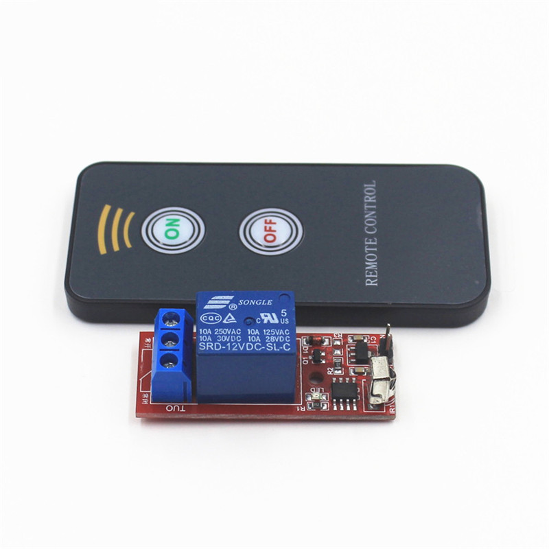1 Channel Way Infrared Universal Remote Control Switch Relay Driving Module Board 12V DC For Controller Device 5v 2 channel ir relay shield expansion board module for arduino with infrared remote controller