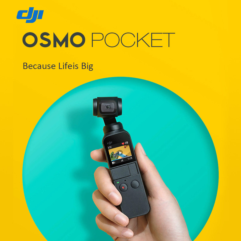 InStock Original Newest DJI Osmo Pocket 3-Axis Stabilized Handheld Camera HD 4K 80 Degree FPV Gimbal Smartphone VS Zhiyun Feiyu