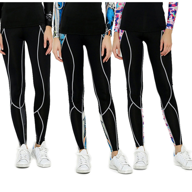 Women Compression Long Skinny Pants Tight Skin Sportswear High Elastic Keep Slim Exercise  Trousers Girls Tops