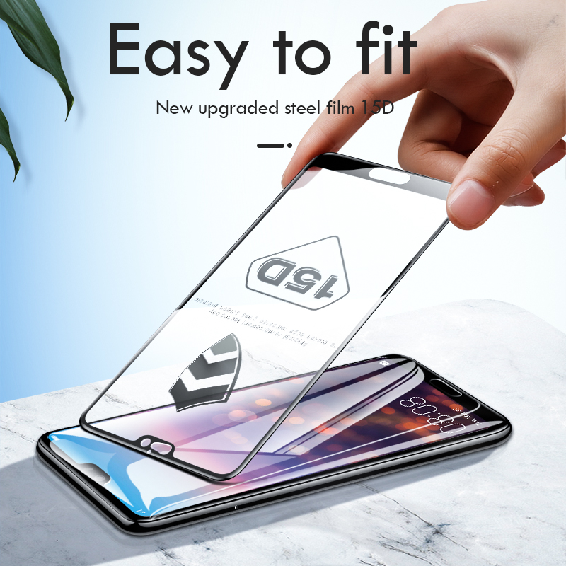 Image 4 - ZNP 15D Screen Protector Tempered Glass For Huawei P20 P10 Lite Plus Protective Glass For Huawei P20 Pro Mate 20 10 lite Film-in Phone Screen Protectors from Cellphones & Telecommunications