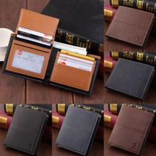 Top Quality Men's Bifold Leather Wallet Credit Card Holder Billfold Purse Clutch цена
