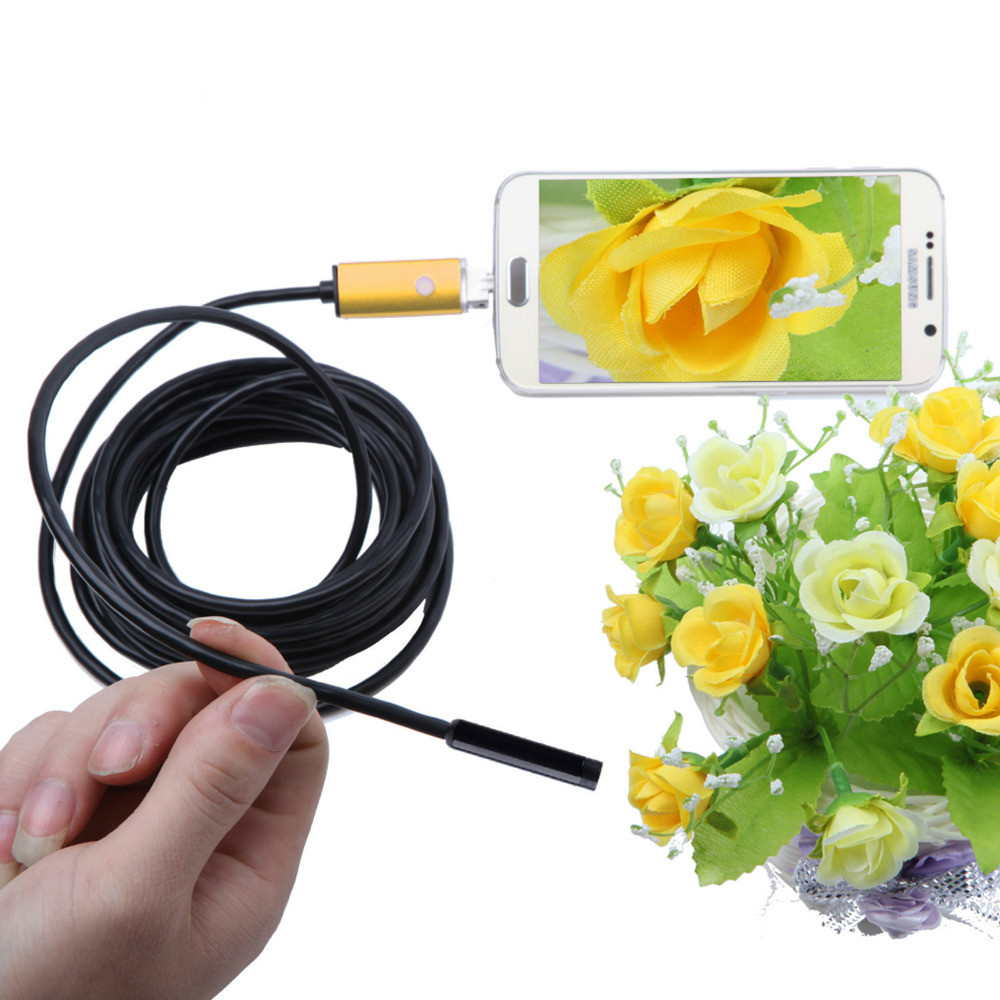 цены на 5.5mm Lens Android USB Endoscope Camera 2M 5M Flexible Snake USB Pipe Detection Android Phone PC OTG USB Borescope Camera 6LEDS