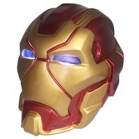 Anime The Avengers Marvel Superhero Iron Man Cosplay Masks Tony Stark Child Adult PVC Full Face Mask LED Helmet Robert Downey Jr