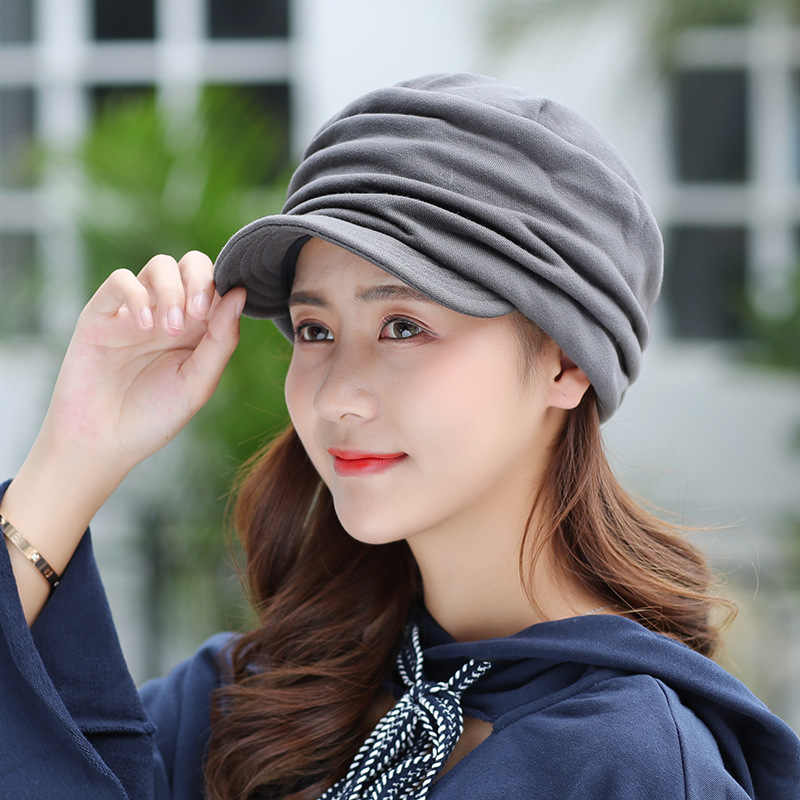 cea748ed ... New Women Winter Hat Warm Visors Knitted Hats For Woman Female Girls  Black Simple Cap Autumn ...