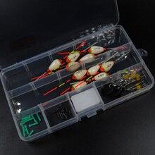 Assorted Mini Float Combo 0.5g ~ 0.8g Pole Fishing Maggot Worm Floats Pond / Lake Ice Fishing Tackles free hooks & stops