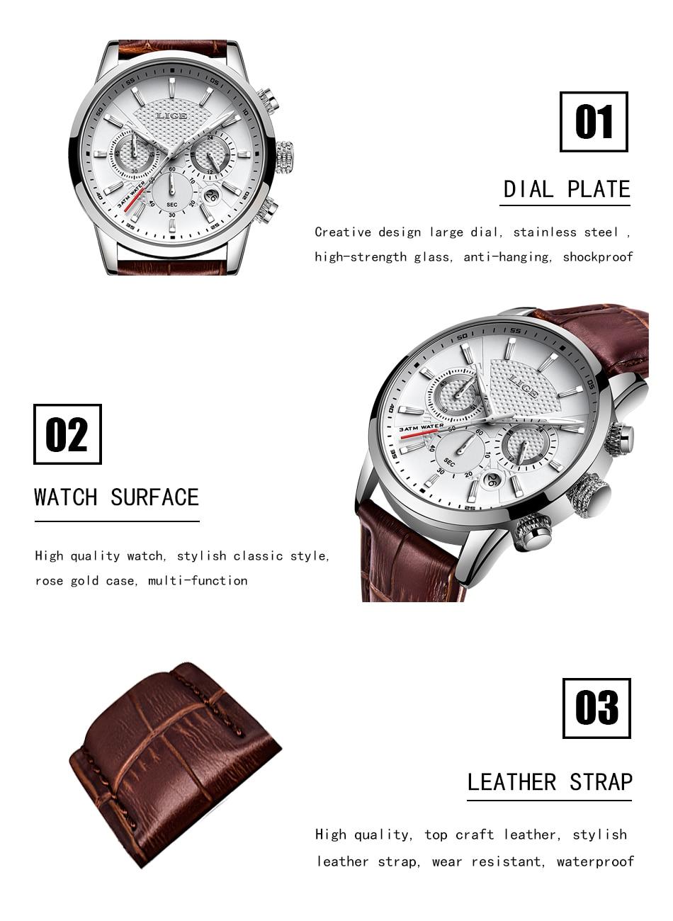 HTB1KHzFVmzqK1RjSZFHq6z3CpXaF LIGE 2020 New Watch Men Fashion Sport Quartz Clock Mens Watches Brand Luxury Leather Business Waterproof Watch Relogio Masculino