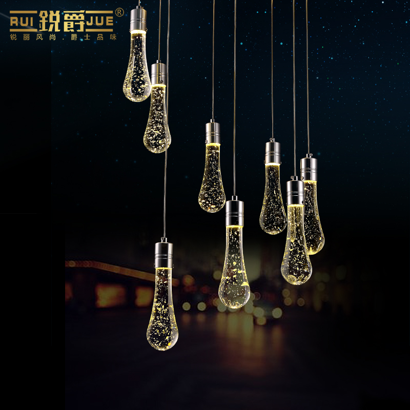 modern elegant creative waterdrop shape K9 bubble crystal 5/6/8 heads led pendant light for dining room living room1093 modern fashion luxurious rectangle k9 crystal led e14 e12 6 heads pendant light for living room dining room bar deco 2239