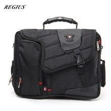 REGIUS Men's Nylon Briefcase Bag Business Handbag High Quality Messenger Bags Laptop Shoulder Bag for Macbook HP Lenovo