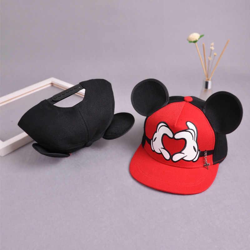 d51d7d0ef89a5d ... Mickey Ears Baby boy Sun Hat Children Snapback Baseball Cap Summer Kids  Boys Hats Bucket Caps