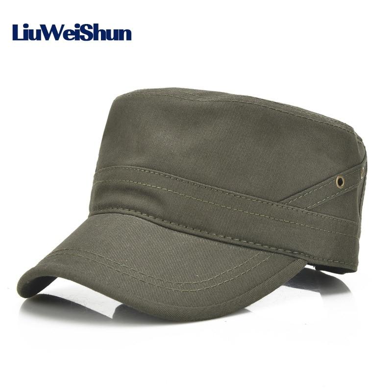 Classical Solid Military Hats For Men Women Cotton Army Hat Snapback Caps Adjustable Outdoor Sport Flat Baseball Cap Gorra Eine Hohe Bewunderung Gewinnen Frank lws