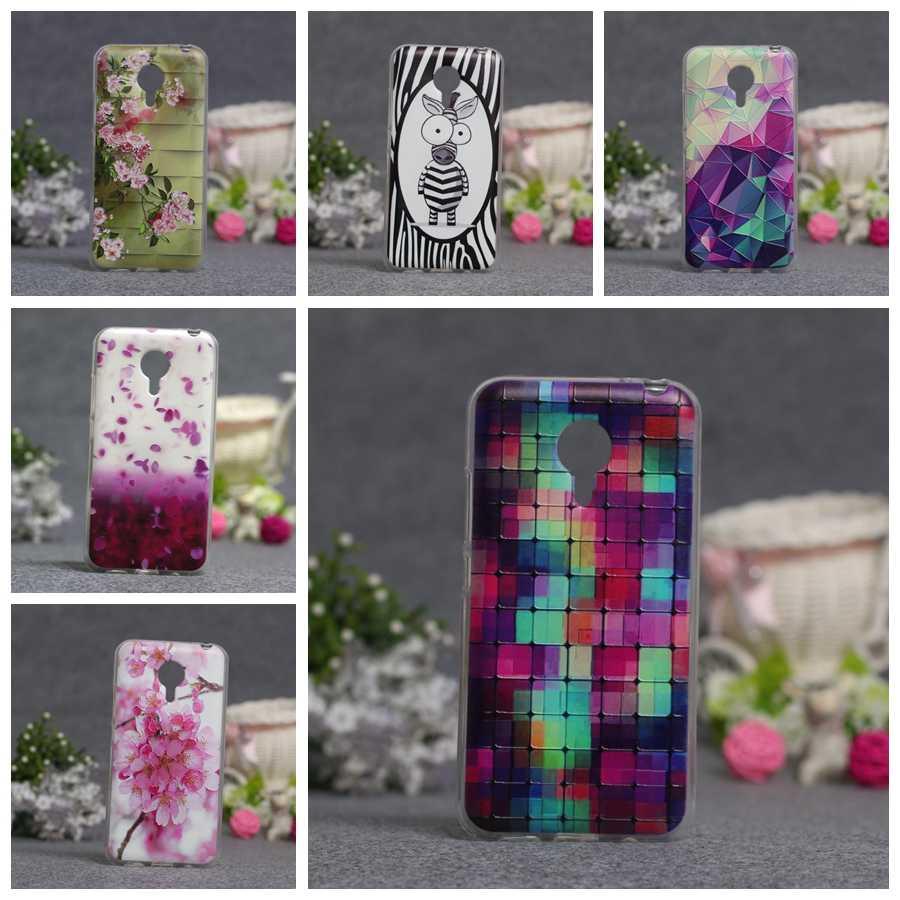 Najnowsze etui do Meizu MX5 Case miękkie etui tpu na tył telefonu przypadku telefonu moda 3D Relief malowanie Protector Pertect pokrywa dla Meizu MX5