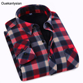 Winter New Plaid Shirts Men Long Sleeve Casual Slim Fit Flannel Wool Warm Shirt Social camisas para hombre Camisas Hombre Vestir