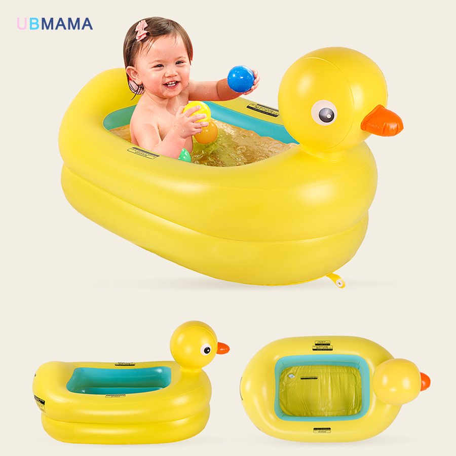Plastic material Red crab yellow duck with thickened material for baby baby inflated bathtub PVC childrens pool