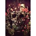 Картина по номерам «сделай сам», Прямая поставка, 40x50 50x65 см, Череп, розы, цветы, холст, свадебное украшение, искусство, картина в подарок