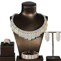 Свадебные украшения, наборы для Для женщин сверкающими Мирко кубический циркон проложили вручную, 4 шт. Свадебный комплект для Для женщин
