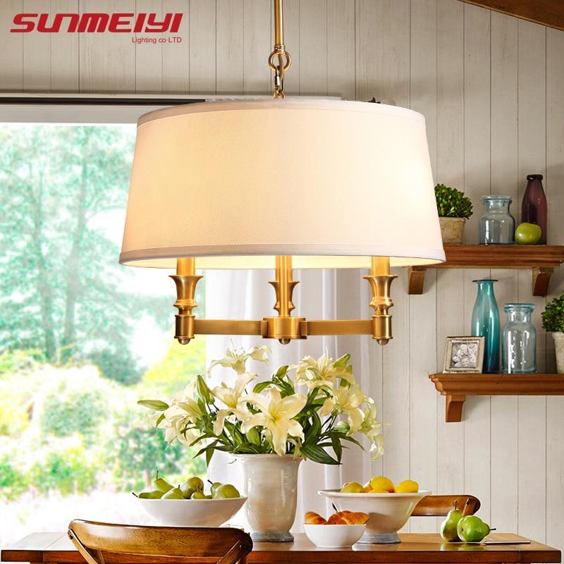 Moderne lampes suspendues lampes Amérique Art Déco en verre boule Pendante Lampe Cuisine Plafonniers Lumière