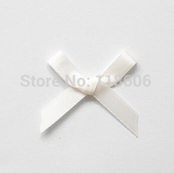 garment accessories Hot Sale 500pcs lot Small Satin Ribbon Bows Appliques Scrapbooking Cardmaking