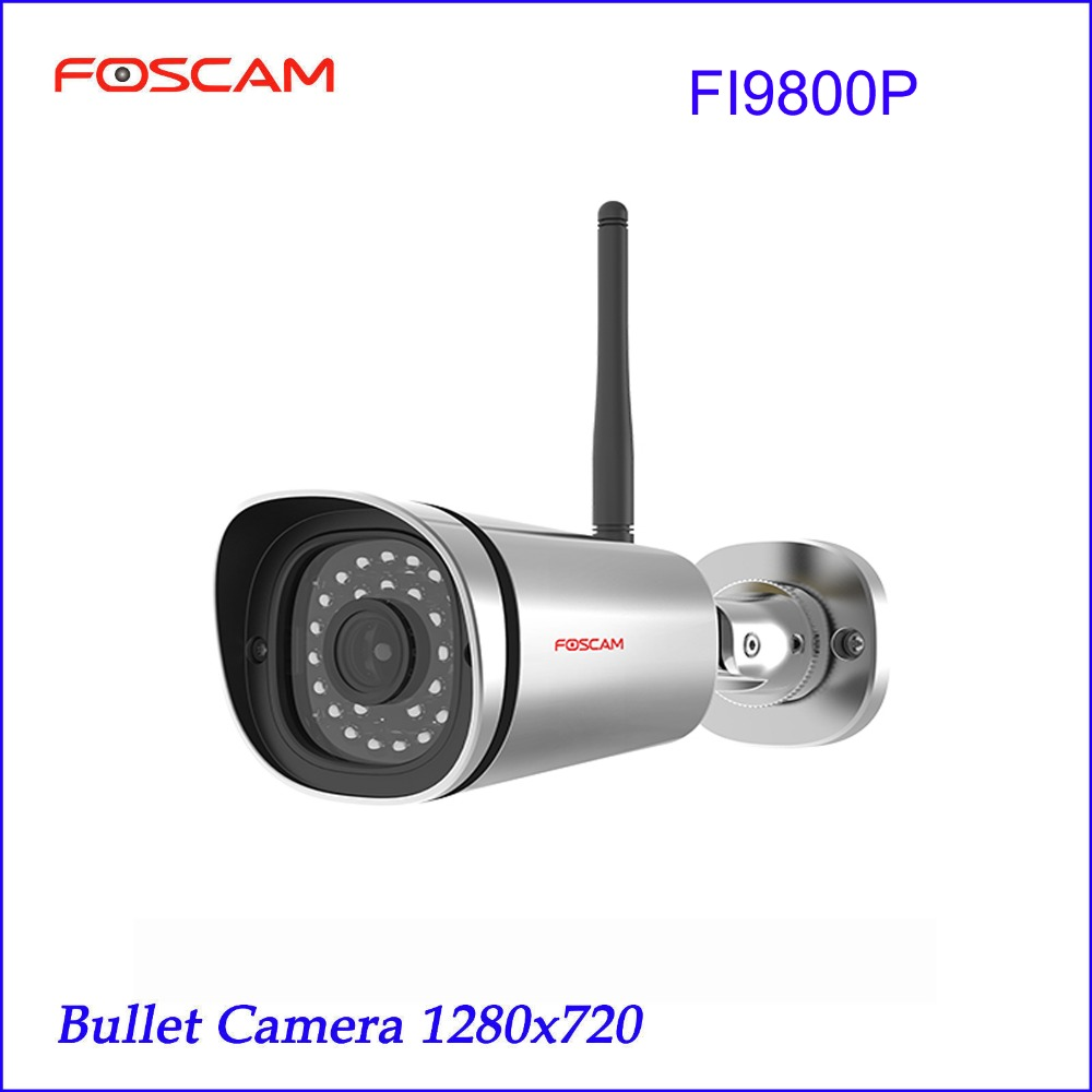 Foscam FI9800P 720P Wireless HD IP Bullet CCTV Camera with 65 Feet Night Vision - Silver bullet camera tube camera headset holder with varied size in diameter