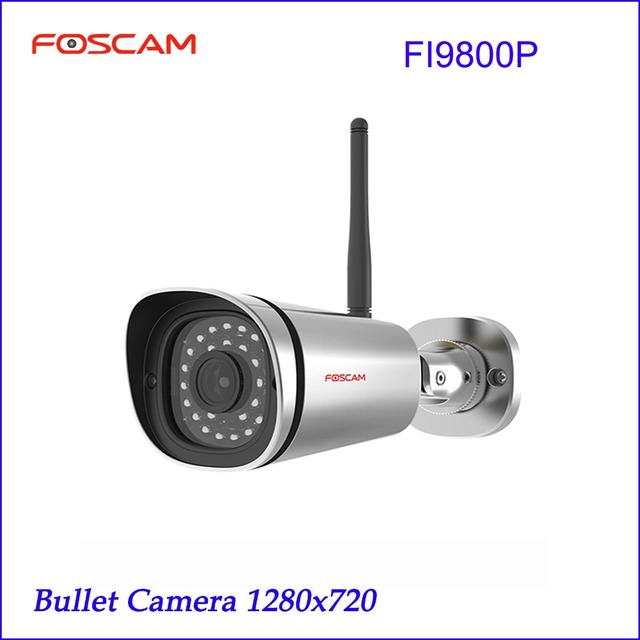 Foscam FI9800P 720P Wireless HD IP Bullet CCTV Camera with 65 Feet Night Vision - Silver