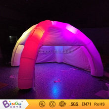 Free Express 5x5 meters Camping Air Blow Tent With Led Lighting inflatable play tent for toy tent(China)