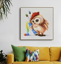 Watercolor Owl Animals Canvas Painting Wall art Picture for Living Room Bedroom Art Poster Decoration Morden Print