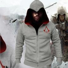 2016 neue Mode Herbst Winter Assassins Creed Männer Hoodie Sweatshirt mantel Jacke Chadal Hombre Cosplay Kostüm Cape Kühlen Reißverschluss