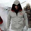 2016 Nueva Moda Otoño Invierno Hombres Suéter Con Capucha Chaqueta de la capa Assassins Creed Chadal Hombre Cosplay Capa Fresca de la Cremallera