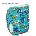 1pcs cloth diaper + 1pcs inserts 3 layer New blue dinosaur merries children Waterproof  reusable  modern nappies